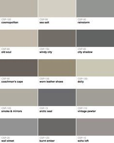 Some new gray's by Benjamin Moore, from the Color Stories Collection.
