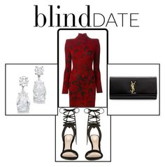 """""""Blind Date"""" by fashion-fave on Polyvore featuring Balmain, ALDO, Yves Saint Laurent, women's clothing, women, female, woman, misses and juniors"""