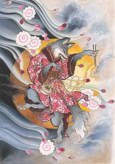 Japanese Tattoo Art, Japanese Tattoo Designs, Japanese Painting, Japanese Illustration, Illustration Art, Asian Artwork, Asian Tattoos, Japan Tattoo, Oriental Tattoo