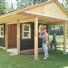 Shed Plans - OMG--for the house we looked at yesterday! Haha, just call us Bob(bi) the builder(s)! Add an extension? - Now You Can Build ANY Shed In A Weekend Even If You've Zero Woodworking Experience! Storage Building Plans, Storage Shed Plans, Building A Shed, Roof Storage, Vinyl Storage, Building Ideas, Building Design, Wood Shed Plans, Free Shed Plans