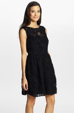 Cynthia Steffe 'Trixie' Lace Fit & Flare Dress  $268 at Nordstrom - I love that it can be dressed up elegant or paired with bright satin belt and pumps, or even boots and a leather jacket... its a black dress that can do a lot of different places.