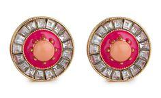Sundial Earrings, Pink by Lele Sadoughi Stud Finder, Sundial, Studs, Charmed, Chain, Earrings, Pink, Ear Rings, Stud Earrings