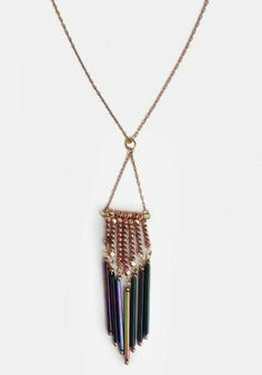 Fringe necklace and we can use a combination of a lot of different colors