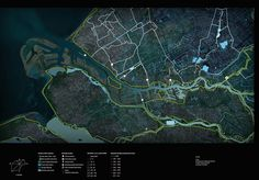Group D Rank: 6 Source: Flow Animations Water flow map of the city Rotterdam, Holland This map illustrates the impact of river Rhine on Rotterdam Landscape Model, Urban Landscape, Landscape Architecture, Landscape Design, Architecture Background, Architecture Visualization, Data Visualization, Residential Architecture, Architecture Presentation Board