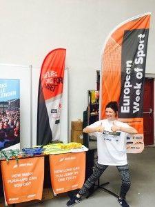 European Week of Sport stand at Copenhagen Half Marathon EXPO