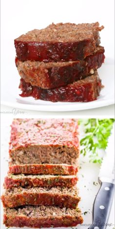 Paleo Keto Low Carb Meatloaf Recipe - Gluten Free - This paleo keto low carb meatloaf recipe is super easy to make. You need only 8 ingredients and 10 minutes prep time! Gluten Free Meatloaf, Low Carb Meatloaf, Healthy Meatloaf, Good Meatloaf Recipe, Meat Loaf Recipe Easy, Easy Meat Recipes, Hamburger Meat Recipes, Healthy Low Carb Recipes, Gluten Free Recipes