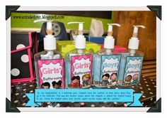 Use handsanitizer as bathroom passes.  When a student has to go to the restroom, he/she takes a handsanitizer and places it on his/her desk.  This eliminates asking the teacher and the teacher knows where the student is by looking at the desk.  Limit the handsanitizers to two for boys and two for girls, so that half your class won't be in the bathroom at once!  Use a rubber band around the top to stop them from over-squirting.    Source Erica Bohrer