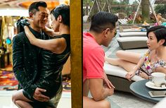 """Louis Koo and Charmaine Sheh do not share many scenes together in """"Line Walker: The Movie"""", but their time together is quite…"""