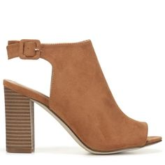 Madden Girl Women's Beckkie Peep Toe Booties (Chestnut)
