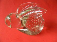 Glass bunny Rabbit-figure/Paper weight