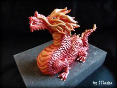 sugarpaste dragon by Masha  -cake toppers -
