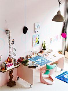The Northcote studio of emerging Melbourne artist Esther Olsson. Photo – Annette O'Brien for The Design Files.