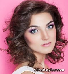 Best Curly Prom Hairstyle for Medium Hair - 99 Hairstyles Ideas