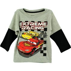 "Disney Cars ""Extreme Racing"" Grey Toddler Long Sleeve T-Shirt (2T) - Brought to you by Avarsha.com"