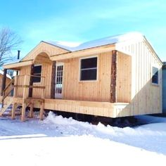 14x30 Gibraltar Tiny House on Wheels. First come, first serve. https://s3.amazonaws.com/jamaicacottageshop.com/uploads/Scratch-n-Dent.pdf #thow #jamaicacottageshop #cabin