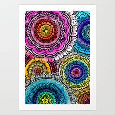 mandala+Art+Print+by+Goyye+-+$14.56