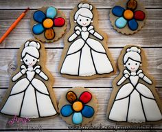 Paint Your Own Cinderella cookie