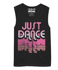 This Black 'Just Dance' Scoop Neck Tank is perfect! #zulilyfinds