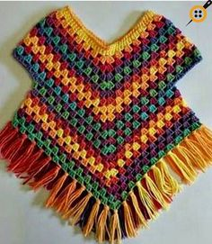 Poncho-Pullover-Muster von Addicted 2 The Hook , Poncho sweater pattern by Addicted 2 The Hook , . Point Granny Au Crochet, Poncho Au Crochet, Pull Crochet, Crochet Poncho Patterns, Double Crochet, Single Crochet, Crochet Flor, Free Crochet, Crochet Vests