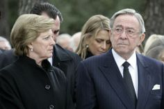 Noblesse & Royautés:  50th Anniversary Commemoration of the death of King Paul of Greece, Tatoi, March 6, 2014-Queen Anne-Marie, King Constantine and Princess Nikolaos (Tatiana)