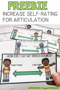 Help your children with speech carryover and self-monitoring. Use these free visuals to help your students listen to and judge their speech accuracy. Featuring a range of children, you can use these in conjunction with your regular speech cards and activities. Articulation Therapy, Speech Activities, Speech Pathology, Speech Language Pathology, Speech Therapy Activities, Language Activities, Speech And Language, Childhood Apraxia Of Speech, Speech Delay