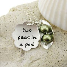Two Peas in a Pod - Personalized - Celebrate Weddings, New Born Baby, or Best Fr J.C. Jewelry Design | JC Jewelry Design