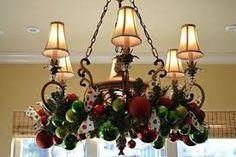 christmas chandelier decoration ideas - Google Search