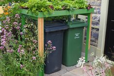 The Front Yard Company designs and makes unique bin stores, green roof recycling bin stores, cycle parking and security. Back Gardens, Small Gardens, Bin Shed, Bin Store, Garden Structures, House Front, Garden Projects, Garden Ideas, Garden Inspiration