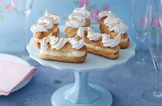 A citrus twist on classic French éclairs, using a gorgeous lemon curd cream to fill the light choux pastry buns. | Tesco