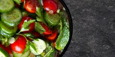 Tomato Mint Cucumber Salad