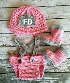 Crochet... Awwwww!!! Adorable! Might have to try again for that baby girl on day!!!!! J/k