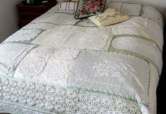 Doily quilt by Marlis1, via Flickr
