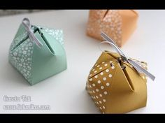 Origami box tutorial gift bags stampin up 17 best ideas Diy Gift Box, Paper Gift Box, Paper Gifts, Diy Gifts, Origami Box Tutorial, Envelope Tutorial, Origami Gifts, Origami Paper, Diy Origami