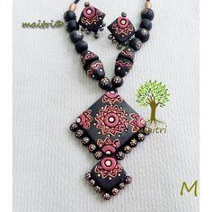 Terracotta Jewellery -  Black Red Combo LongTerracotta  https://www.facebook.com/maitricrafts.maitri https://www.facebook.com/maitri.crafts maitri_crafts@yahoo.com