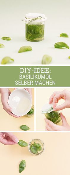 Wellness-Tipp: Basilikumöl gegen Kopfschmerzen. Wir zeigen Dir, wie es geht / wellness diy for your health: how to make a basil oil against headaches via DaWanda.com