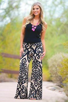 What to wear with palazzo pants (8)