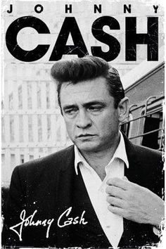 Johnny Cash Signature (B&W) (24x36) - MUS89897