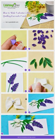 How to Make Valentine's Day Quilling Lavender Cards