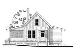Allison Ramsey Architects | Floorplan for Crawdad (variation) - 698 square foot house plan # 08502E