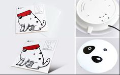 DIY Lamps With Sitckers: Cartoons Animate Your Kids Room! | http://www.designrulz.com/product-design/2012/09/decorate-a-lampshade-with-stickers-an-easy-way-to-animate-your-kids-room/