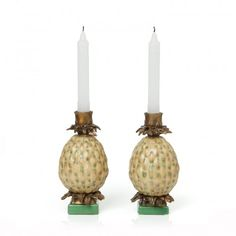 HOUSE OF HACKNEY Set of ANANAS Pineapple Candle Holders - Yellow http://www.houseofhackney.com/home/decorative/house-of-hackney-set-of-ananas-pineapple-candle-holders-yellow.html