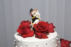 I love my firefighter...and this cake topper!   #DBBridalStyle