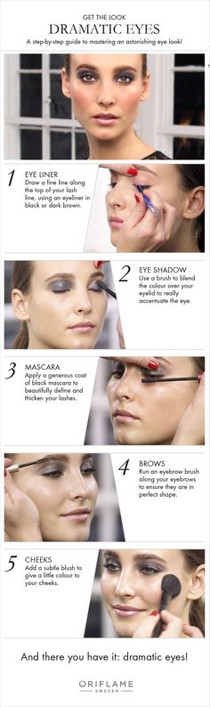 For an evening out, dramatic smoky eyes are always in fashion. In our exclusive Oriflame tutorial, we show you how to get that perfect dramatic eye look in just a few simple steps.
