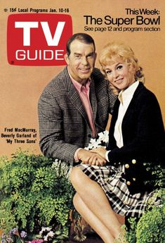 Beverly Garland & Fred MacMurray From My Three Sons on the cover of TV Guide Magazine.