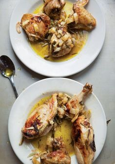 Evan Kleiman of Angeli Caffe in Los Angeles gave us the recipe for this simple, aromatic roast chicken.