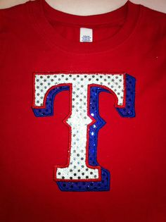 Girls Red Texas Rangers Shirt by christimaher on Etsy, $21.99