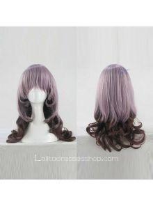 Lolita Curly Wig by Dreamful Purple 55cm