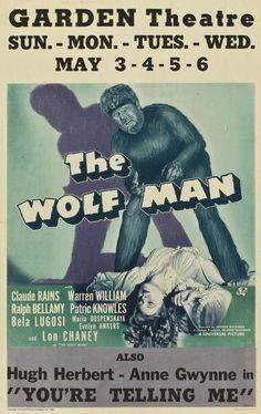 The Wolf Man window card