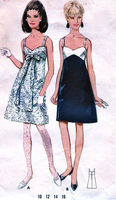 Узор Butterick 1960-х годов 6001 - элегантный V шеи платье для коктейля вечернее…