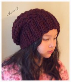 Items similar to Slouchy Beret in Claret ( teens and Adults). on Etsy Knitted Hats, Crochet Hats, Beret, Beanie, Knitting, Trending Outfits, Unique Jewelry, Handmade Gifts, Etsy
